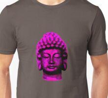 Buddha head pink Unisex T-Shirt