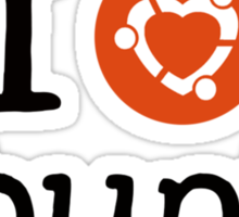 I love Ubuntu shirt Sticker
