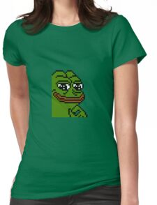 8 Bit Pepe Womens Fitted T-Shirt