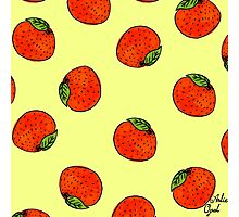Oranges Marker Drawing Pattern Photographic Print