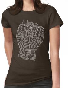 Rebel the Hell out life - line art Womens Fitted T-Shirt