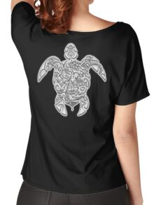 TURTLE, Tortoise, Tribal, Art, Tattoo, reptile Women's Relaxed Fit T-Shirt