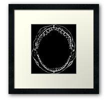 Jaws (White) Framed Print