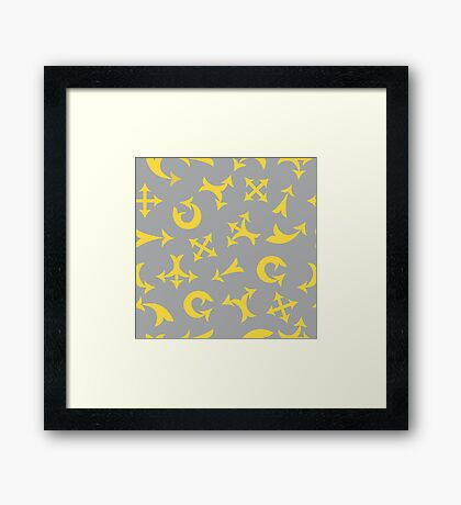 Yellow arrows Framed Print