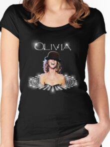 Olivia Newton-John - Shine Bright Like Diamond Women's Fitted Scoop T-Shirt