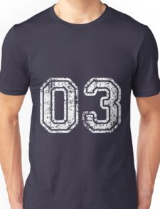 Sport Team Jersey 03 T Shirt Football Soccer Baseball Hockey Double Basketball Three 3 Zero Unisex T-Shirt