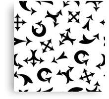Black arrows Canvas Print