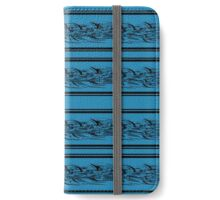 Blue abstract barbwire iPhone Wallet/Case/Skin
