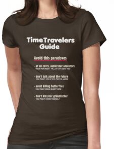Time travelers guide Womens Fitted T-Shirt