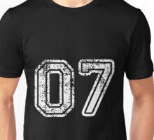 Sport Team Jersey 07 T Shirt Football Soccer Baseball Hockey Double Basketball Zero Seven 7 Unisex T-Shirt