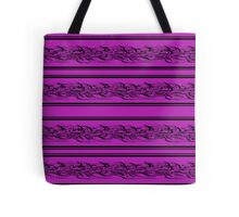 Magenta abstract barbwire pattern Tote Bag