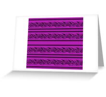 Magenta abstract barbwire pattern Greeting Card