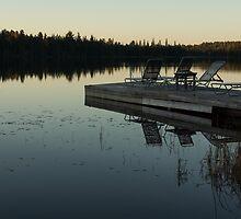 Empty - Reflecting on Sunset Serenity by Georgia Mizuleva