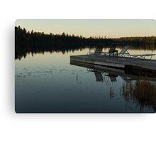 Empty - Reflecting on Sunset Serenity Canvas Print