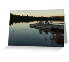 Empty - Reflecting on Sunset Serenity Greeting Card
