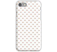 Rose-gold polkadots seamless pattern iPhone Case/Skin