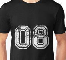 Sport Team Jersey 08 T Shirt Football Soccer Baseball Hockey Double Basketball Eight Zero 0 8 Unisex T-Shirt