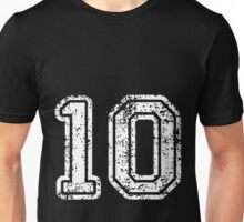 Sport Team Jersey 10 T Shirt Football Soccer Baseball Hockey Double Basketball Zero One 1 0 10  Unisex T-Shirt