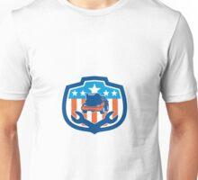 Car Repair Spanner Shield Retro Unisex T-Shirt