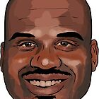 """Shaquille O'Neal - """"What a head"""" (Cartooned)  by borg"""