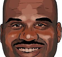 "Shaquille O'Neal - ""What a head"" (Cartooned)  by borg"