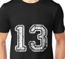 Sport Team Jersey 13 T Shirt Football Soccer Baseball Hockey Double Basketball One Three Thirteen Thir Teen 1 3 Unisex T-Shirt