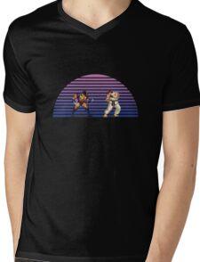 Wolverine v Ryu Mens V-Neck T-Shirt