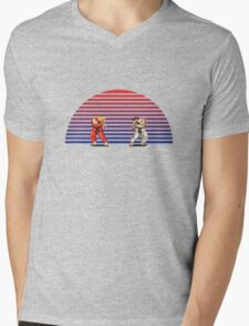 Ken v Ryu Mens V-Neck T-Shirt