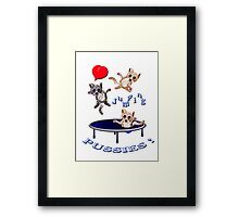 love jumping pussie's Framed Print