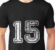 Sport Team Jersey 15 T Shirt Football Soccer Baseball Hockey Double Basketball One Five Fifteen Fif Teen 1 5 Unisex T-Shirt