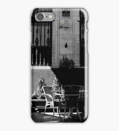 Streets of Seville - In Black and White  iPhone Case/Skin