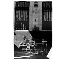 Streets of Seville - In Black and White  Poster