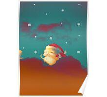 Santa Clouds Poster
