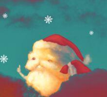 Santa Clouds Sticker