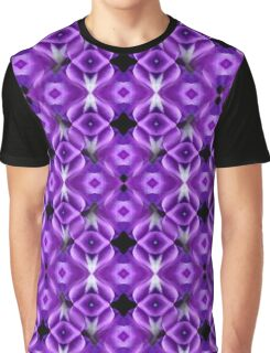 Purple Passion Abstract Pattern Graphic T-Shirt