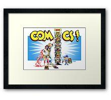 The Comic Book Spinner Rack Framed Print