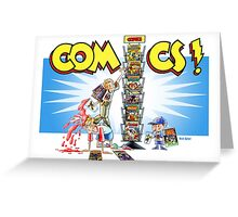 The Comic Book Spinner Rack Greeting Card