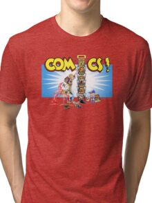 The Comic Book Spinner Rack Tri-blend T-Shirt