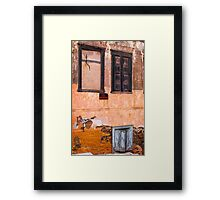 Empty window Framed Print