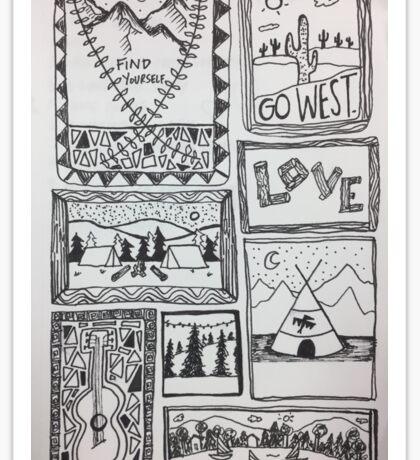 coast to coast: get outdoors Sticker