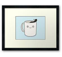 whoa, coffee! Framed Print