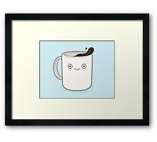 whoa, coffee! Framed Print