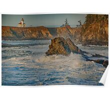 The Cape Arago Light Poster