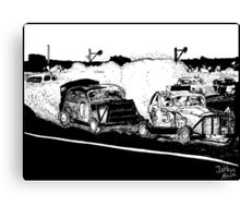 One day at the race track Canvas Print