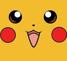 Pokemon - Pikachu Face Yellow by NinjasInCarpets