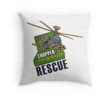 Chopper Mission Rescue Throw Pillow