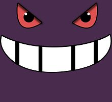 Pokemon - Gengar Face Purple by NinjasInCarpets