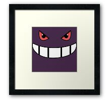 Pokemon - Gengar Face Purple Framed Print