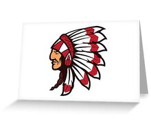 Native Indian chief Greeting Card