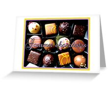 Gourmet Chocolates Greeting Card
